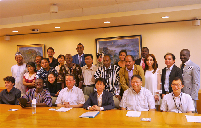 Courtesy visit from JICA Group Training Course | Kobe University