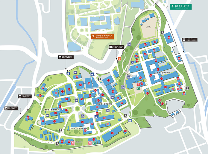 Ku Med Campus Map.Rokkodai 2nd Campus Kobe University