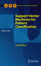 Support Vector Machines for Pattern Classification, 2nd ed.