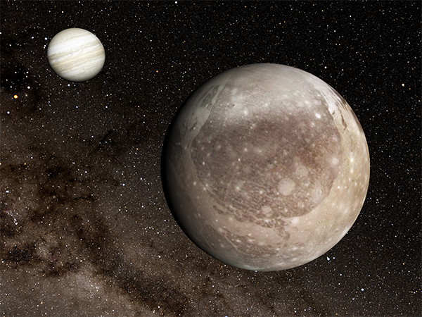What Whacked Jupiter's Moon Ganymede? 150 Kilometer Asteroid Suspected